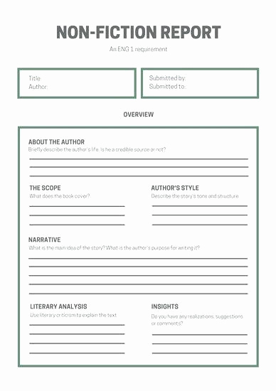 Nonfiction Book Proposal Template Fresh Nonfiction Book Template