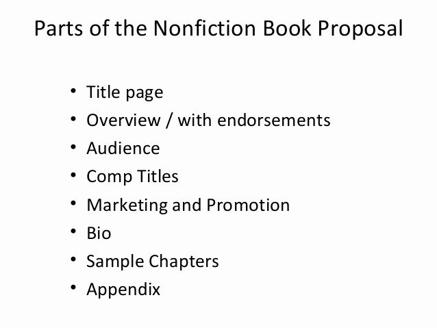 Nonfiction Book Proposal Template Fresh Writing the Book Proposal