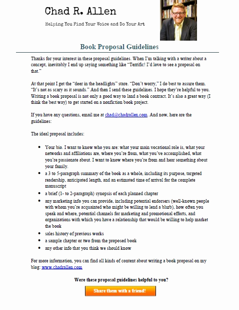 Nonfiction Book Proposal Template Inspirational 4 Ways to Make Sure Your Book Proposal Stands Out Chad R