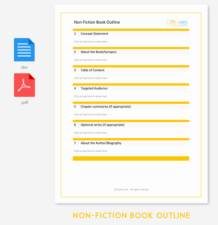Nonfiction Book Proposal Template Lovely Non Fiction Book Outline Template 5 for Word Pdf