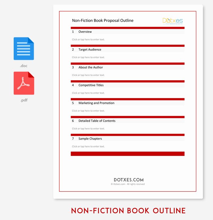 Nonfiction Book Proposal Template New Book Outline Template 17 Samples Examples and formats