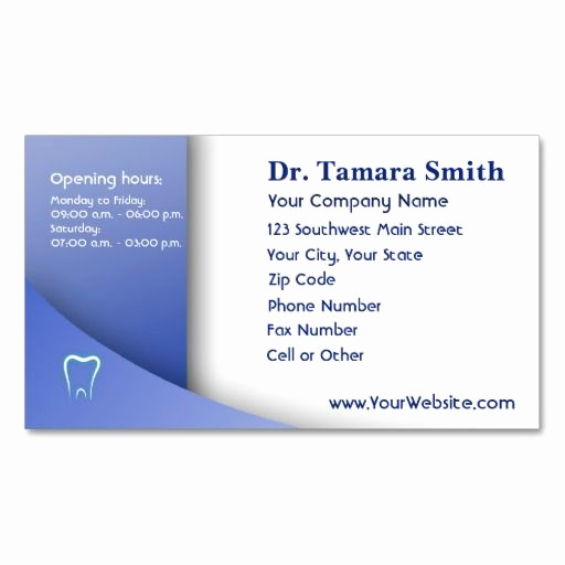Office Business Card Template Awesome 71 Best Dental Dentist Fice Business Card Templates