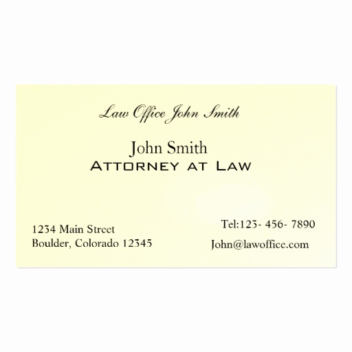 Office Business Card Template Beautiful attorney at Law Office Double Sided Standard Business