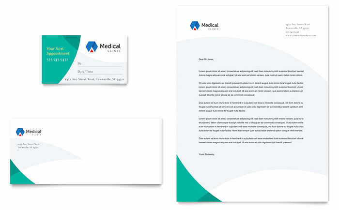 Office Business Card Template Best Of Doctor S Fice Business Card & Letterhead Template Design