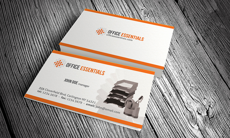 Office Business Card Template Fresh Stationery & Fice Equipment Business Card Template