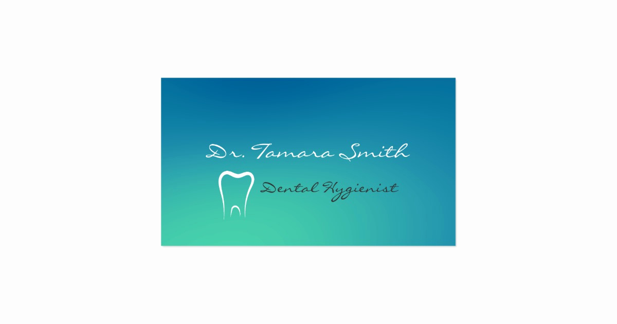 Office Business Card Template Inspirational Dental Hygienist Fice Business Card Template