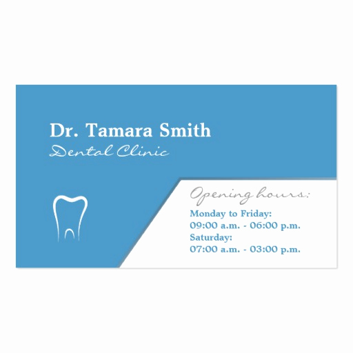 Office Business Card Template Lovely Dentist Dental Fice Business Card Template