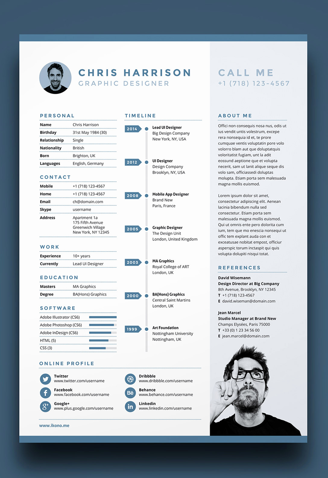 One Page Resume Template Free Best Of 7 Free Editable Minimalist Resume Cv In Adobe Illustrator