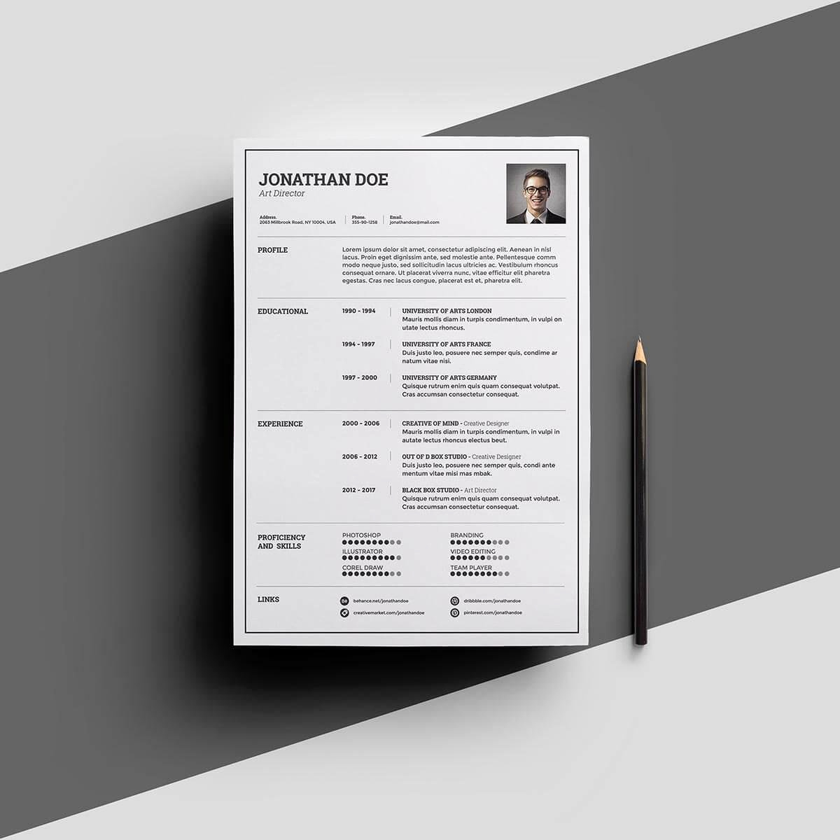 One Page Resume Template Free Best Of E Page Resume Templates 15 Examples to Download and Use now