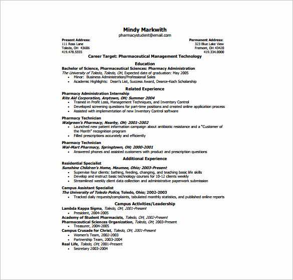 One Page Resume Template Free Fresh E Page Resume Template 12 Free Word Excel Pdf