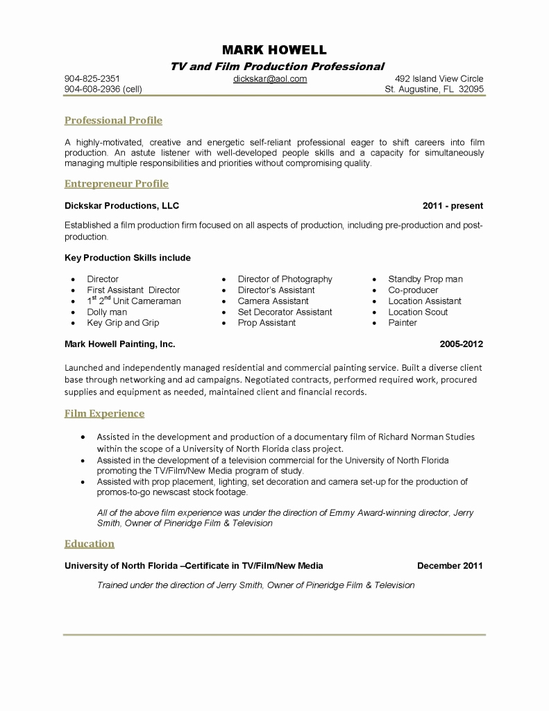 One Page Resume Template Free Fresh E Page Resume Template