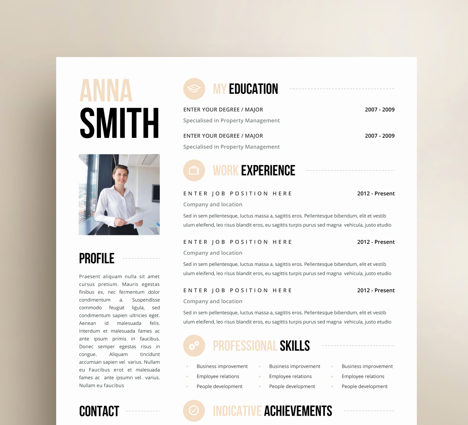 One Page Resume Template Free Fresh Inspiration Minimalist Resume Template Word Free with E