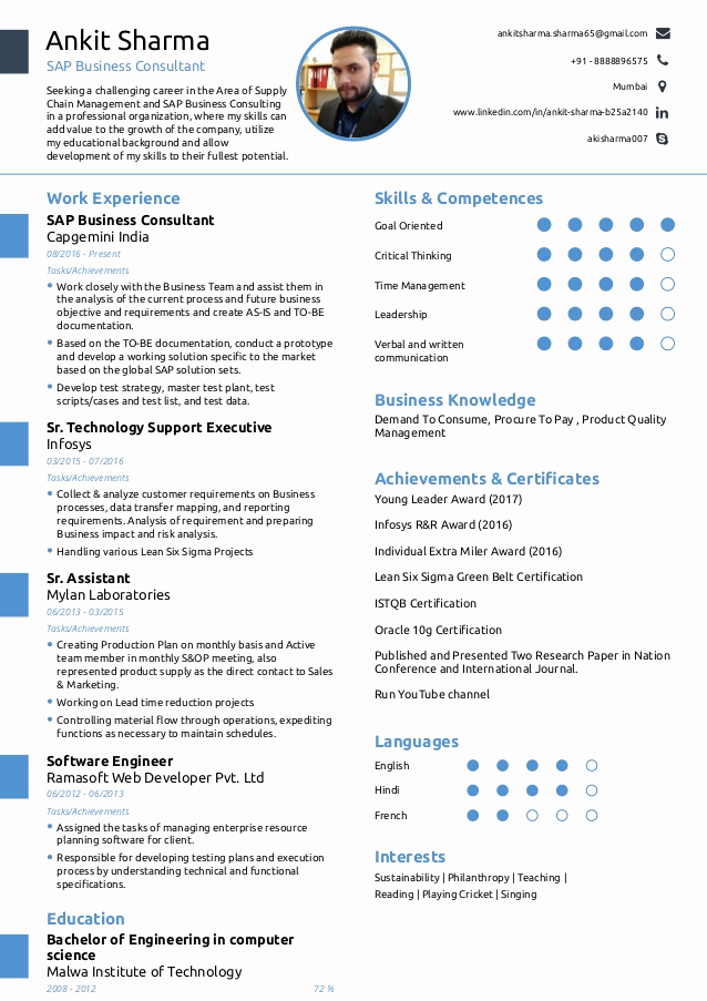 One Page Resume Template Free Inspirational Beaufiful E Page Resume Gallery Simple and