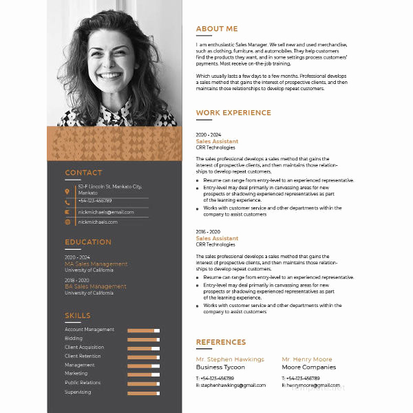 One Page Resume Template Free Inspirational E Page Resume Template 12 Free Word Excel Pdf