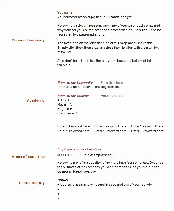 One Page Resume Template Free Luxury Resume Page Number Best Resume Collection