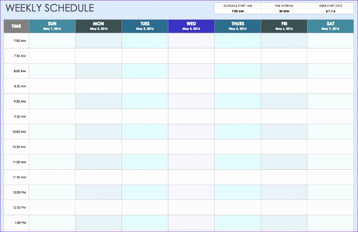 One Week Schedule Template Best Of 10 E Week Calendar Template Excel Exceltemplates