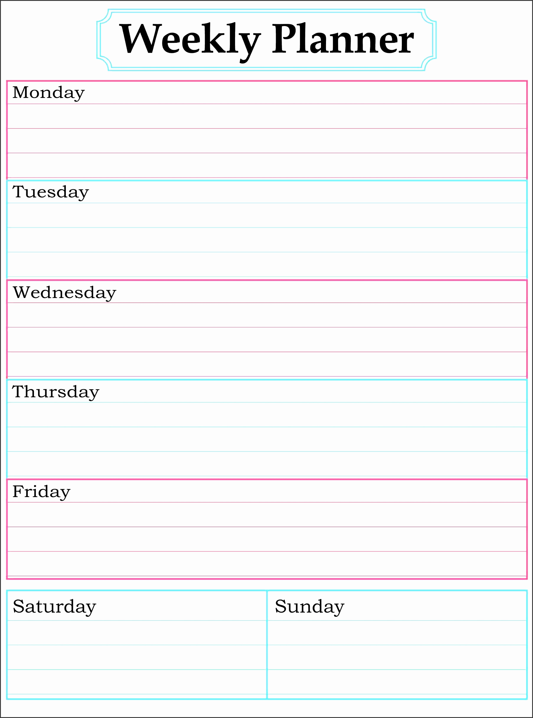 One Week Schedule Template Fresh 11 E Week Planner for Employees Sampletemplatess