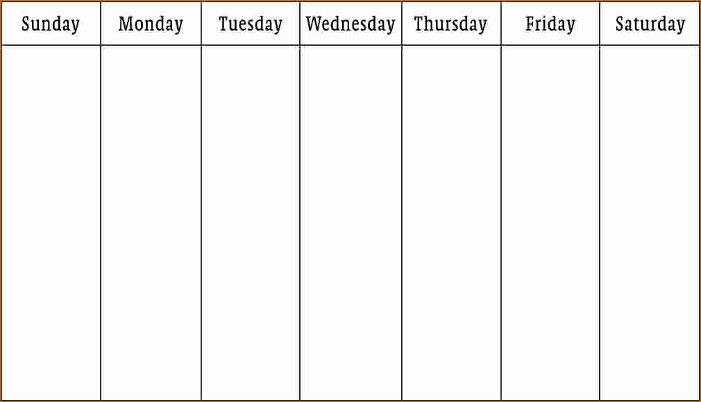 One Week Schedule Template Lovely 3 Work Week Calendar Template