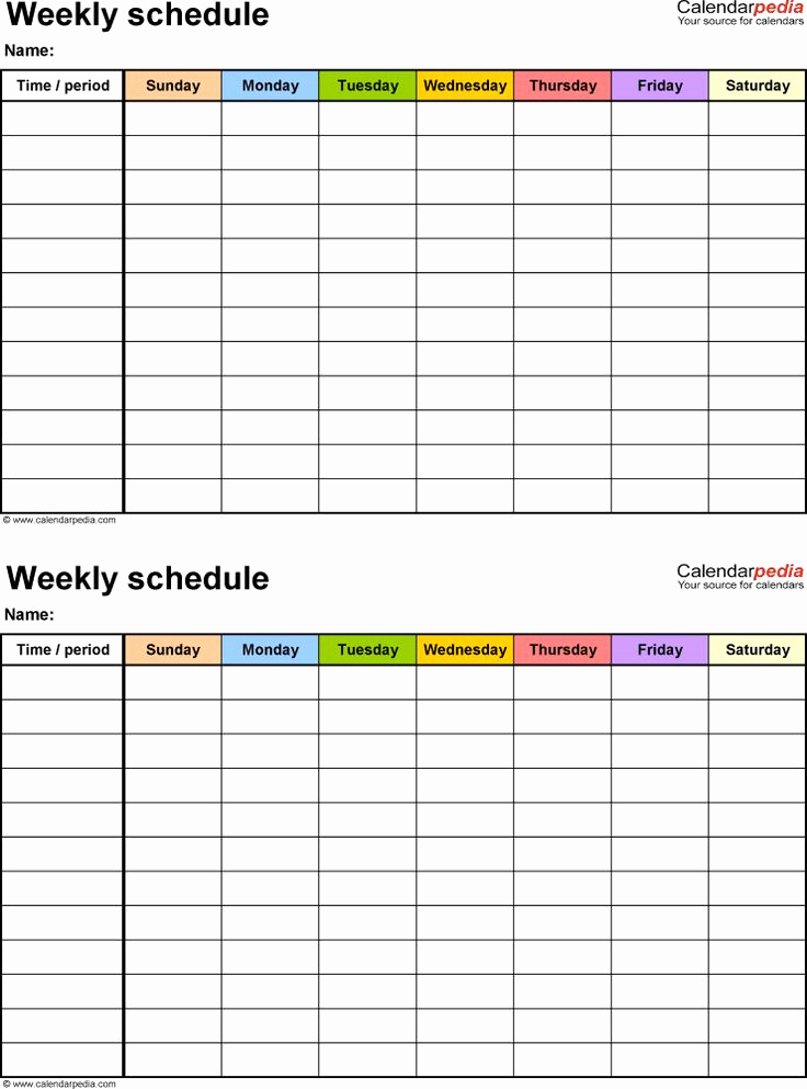 One Week Schedule Template Luxury Best 25 Schedule Templates Ideas On Pinterest