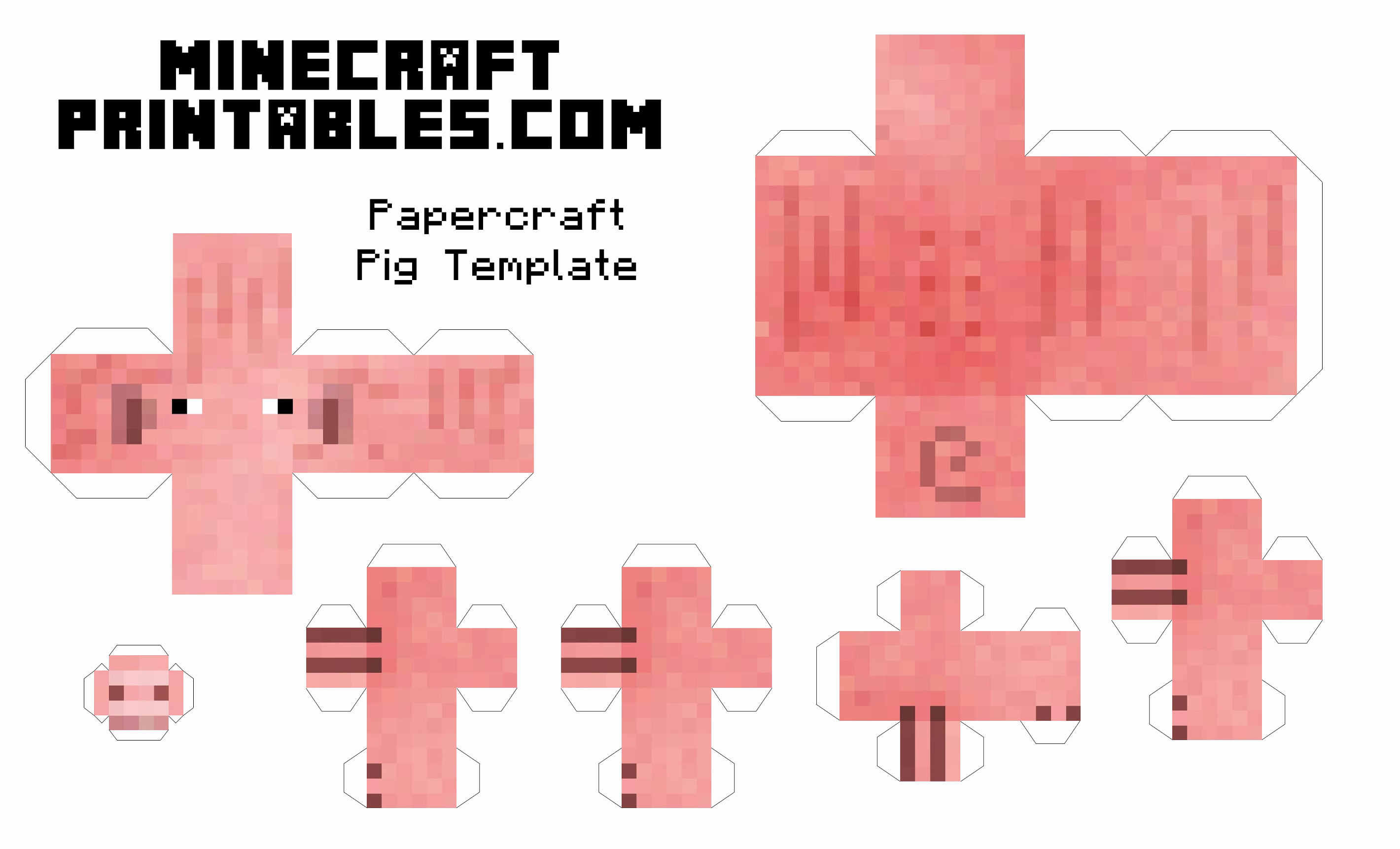 Paper Cut Outs Templates Awesome 8 Best Of Printable Minecraft Paper Crafts