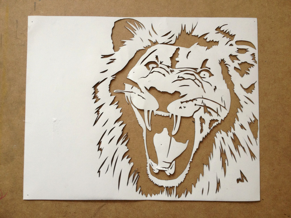 Paper Cut Outs Templates Best Of Lion Face Image Contemporary Reference Silhouette Image