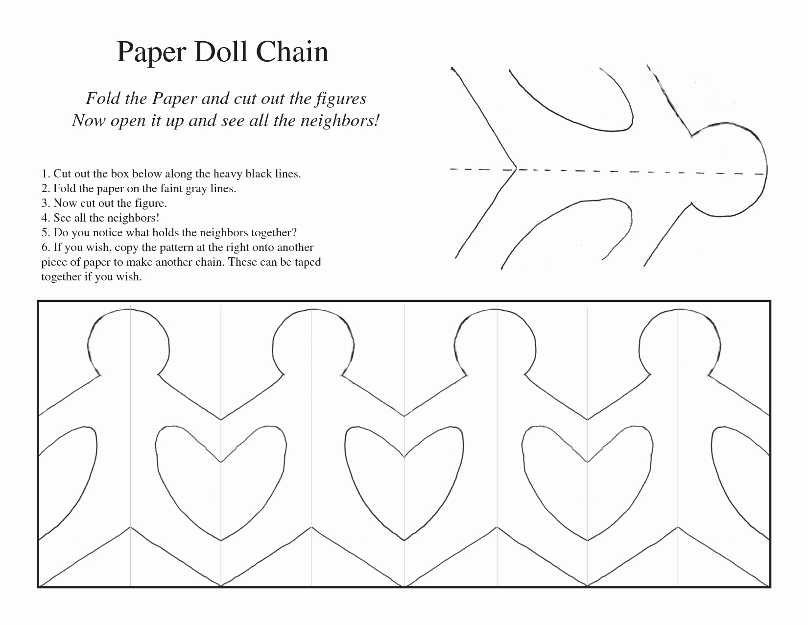 Paper Cut Outs Templates Luxury 5 Best Of Printable Paper Chain People Template