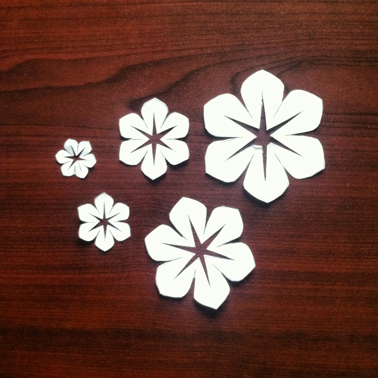 Paper Cut Outs Templates Luxury Fabric Flowers Version 2