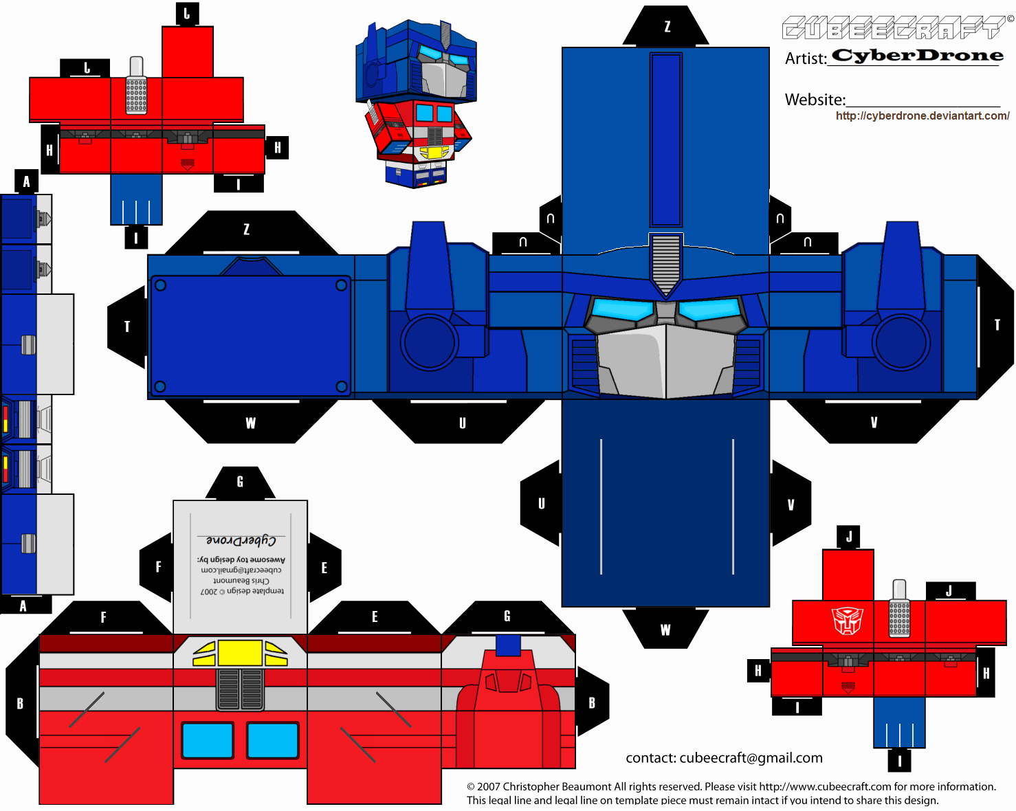 Paper Cut Outs Templates Luxury Transformer Papercraft Templates Papercraft