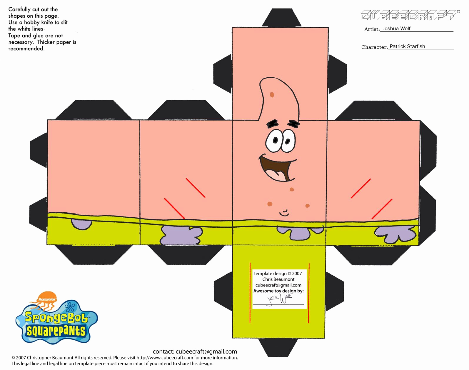 Paper Cut Outs Templates New Spongebob 3d Cut Out Printable Paper Crafts