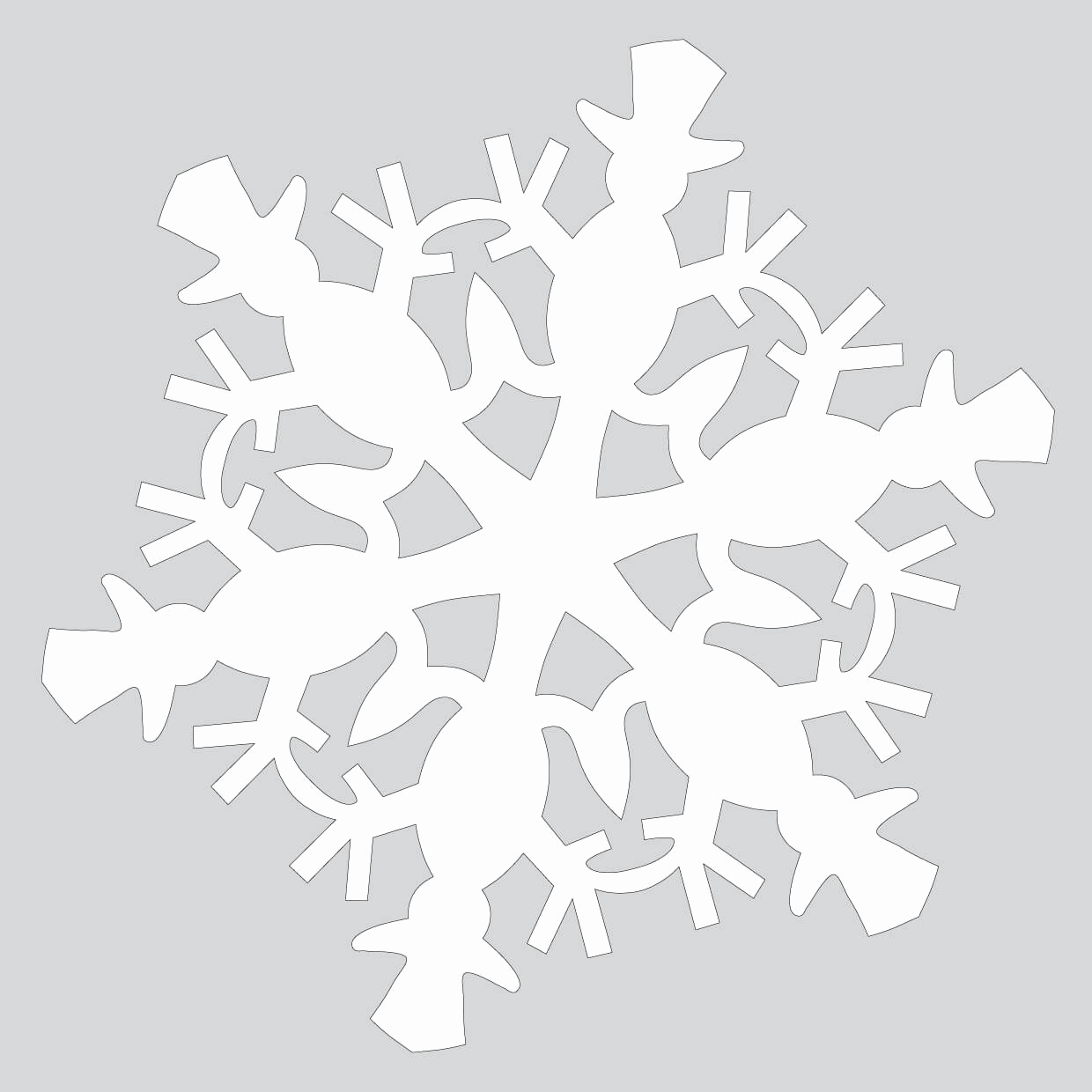 Paper Cut Outs Templates Unique Paper Snowflake Pattern with Snowman Cut Out Template