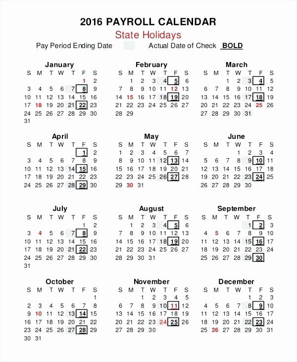 Payroll Calendar Template 2017 Awesome 2017 Payroll Calendar Template – Psychicnights