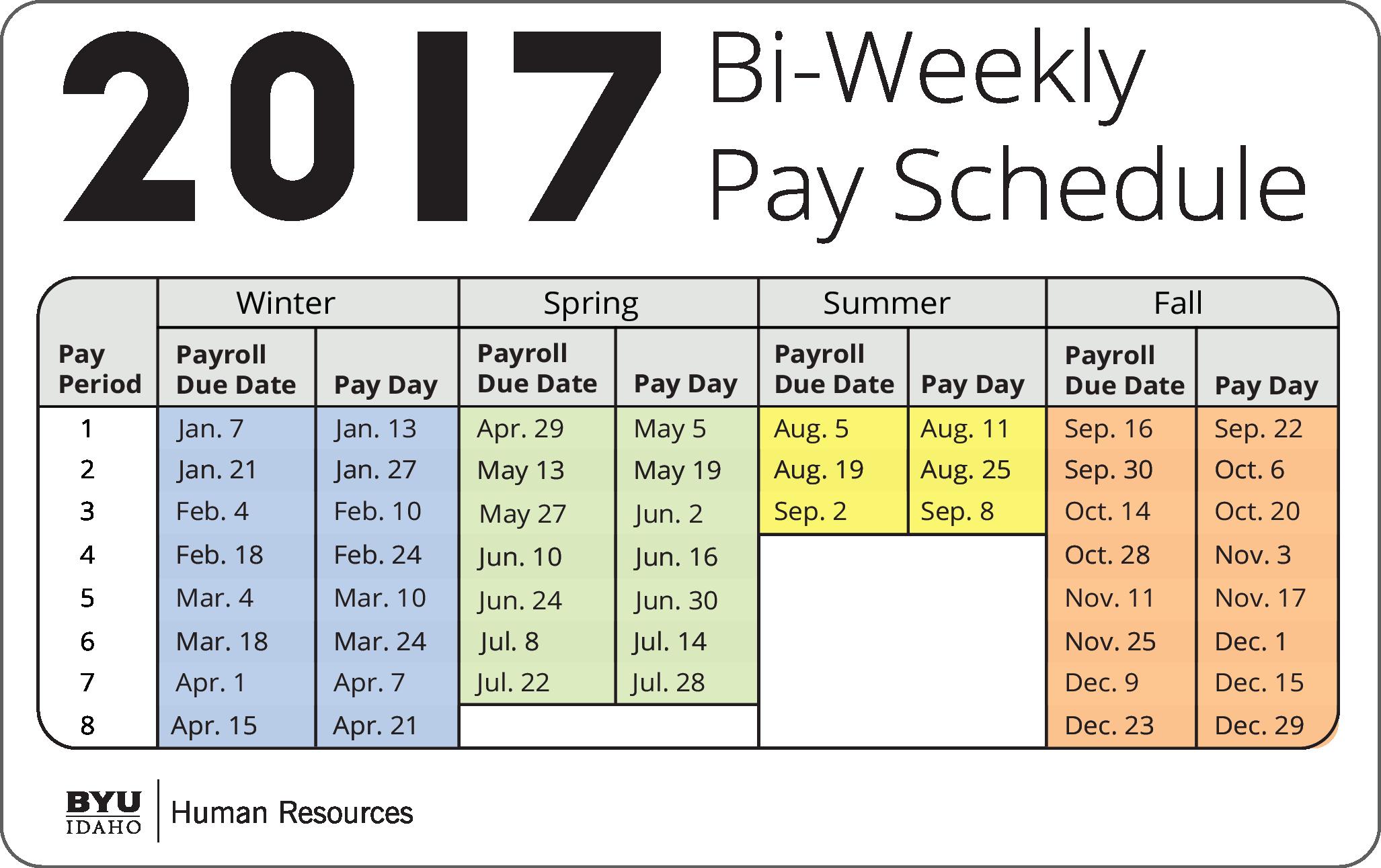 Payroll Calendar Template 2017 Best Of December Bi Weekly Calendar 2017