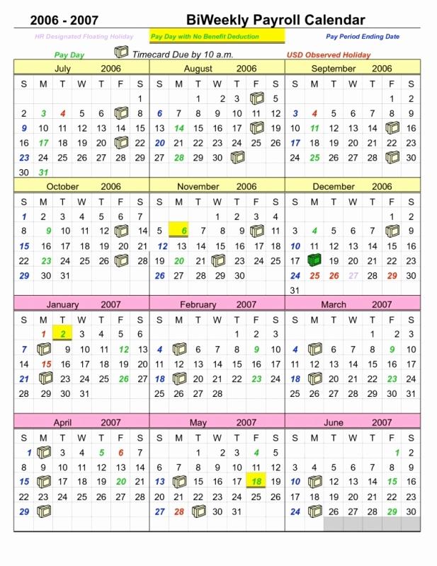 Payroll Calendar Template 2017 Best Of Semi Monthly Payroll Calendar Template Free Calendar
