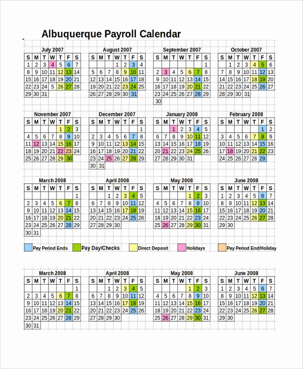 Payroll Calendar Template 2017 Fresh 10 Payroll Calendar Templates