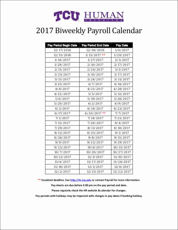 Payroll Calendar Template 2017 Fresh 26 Payroll Samples & Templates In Pdf