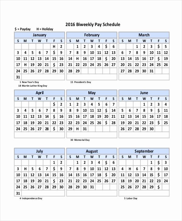 Payroll Calendar Template 2017 Inspirational Bi Weekly Payroll Calendar Template