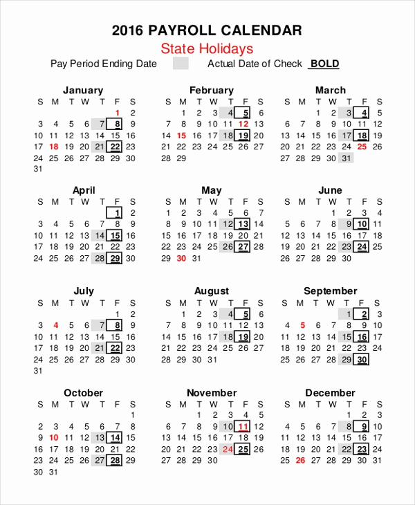 Payroll Calendar Template 2017 Inspirational Payroll Calendar Template 10 Free Excel Pdf Document