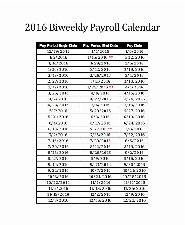 Payroll Calendar Template 2017 Luxury 10 Payroll Calendar Templates