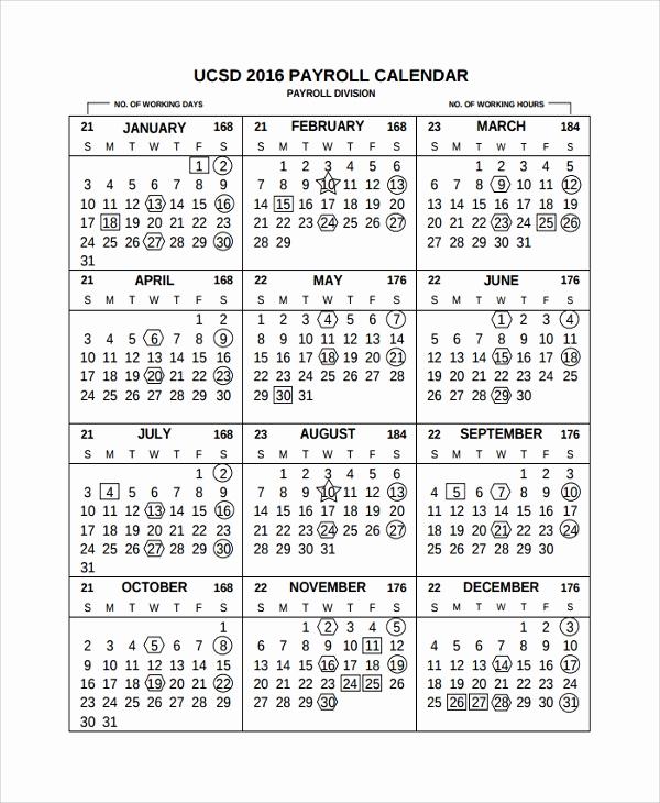 Payroll Calendar Template 2017 New 10 Payroll Calendar Templates