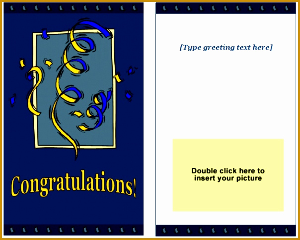 Printable Greeting Card Templates Elegant 6 Greeting Card Template