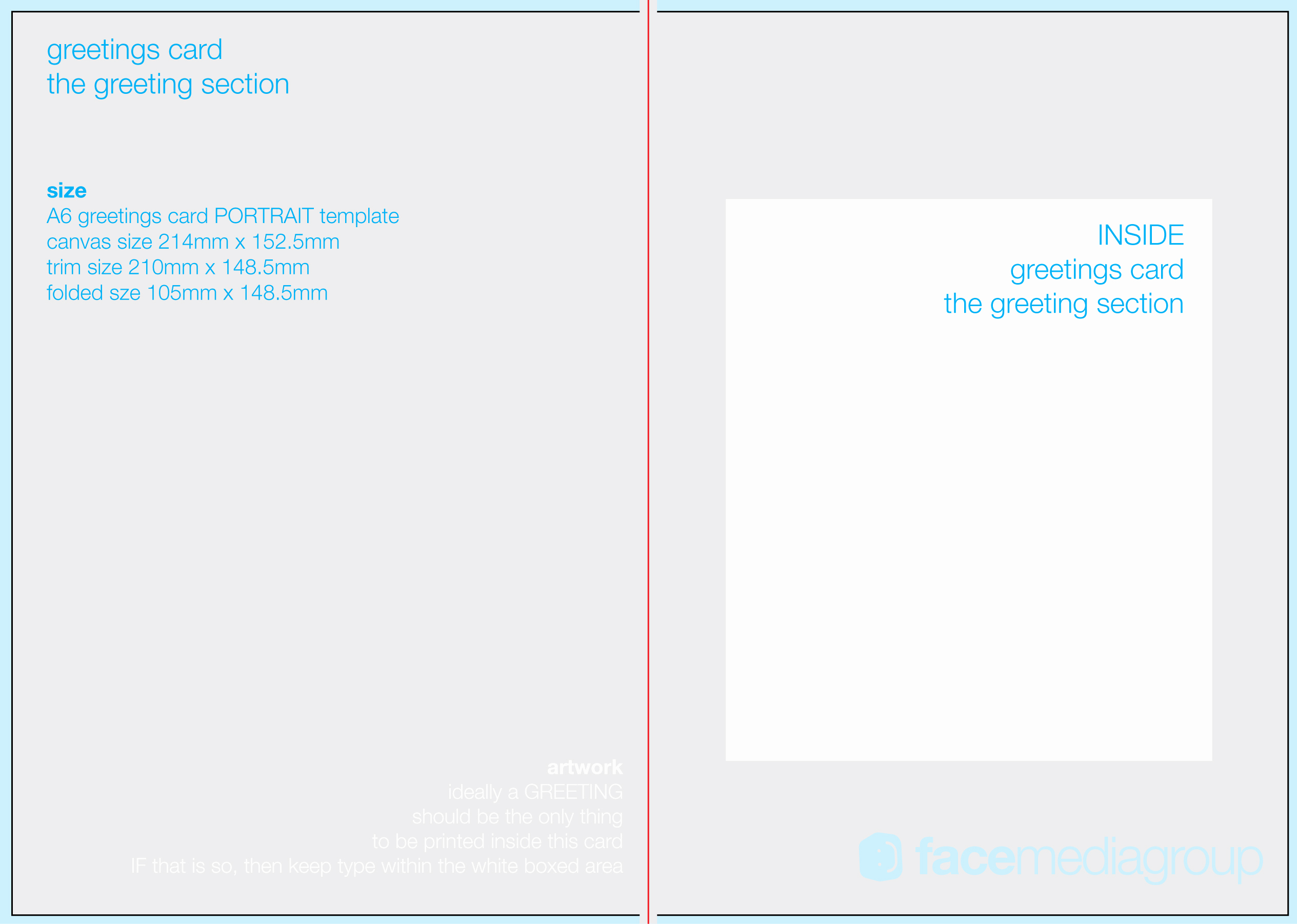Printable Greeting Card Templates Fresh Free Blank Greetings Card Artwork Templates for Download