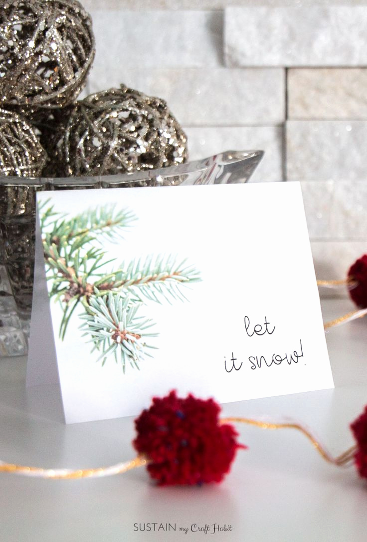 Printable Greeting Card Templates Lovely December S Free Winter Printable Greeting Card Template