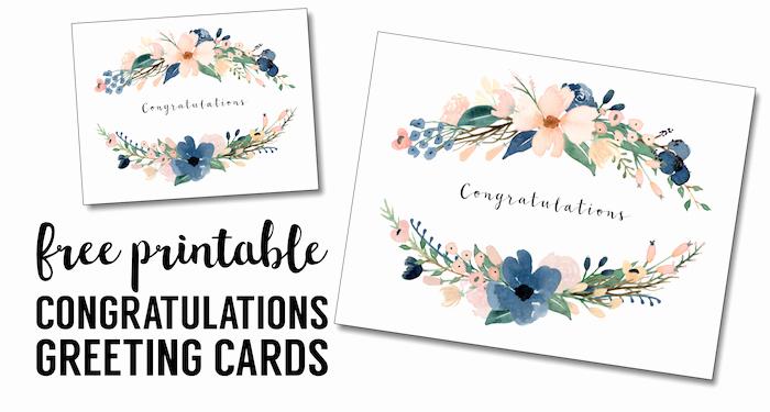 Printable Greeting Card Templates New Congratulations Card Printable Free Printable Greeting