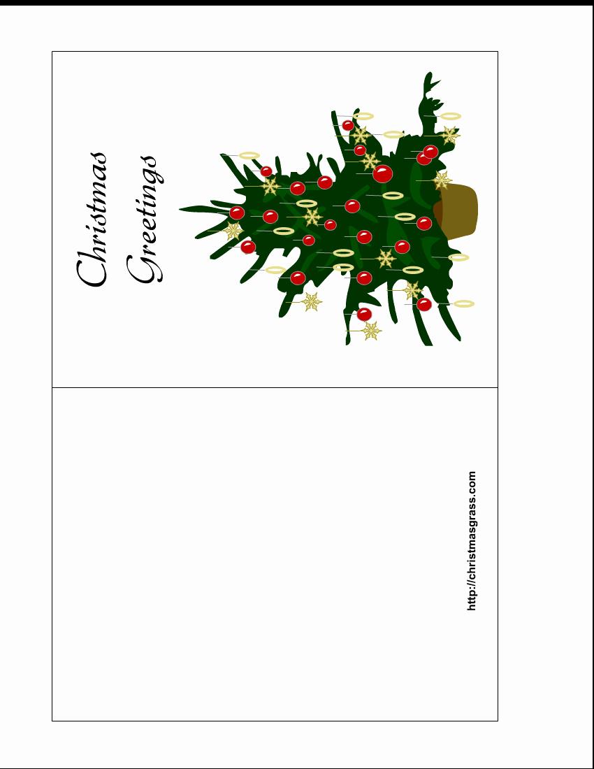 Printable Greeting Card Templates New Holiday Greeting Card with Christmas Tree