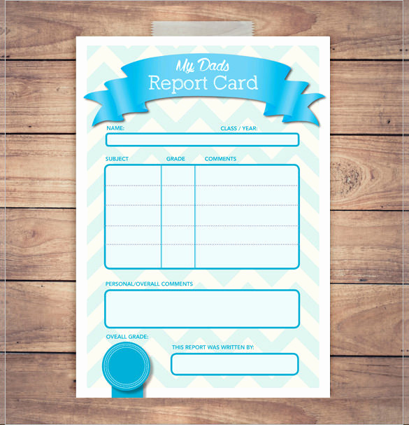 Printable Report Card Template Awesome 20 Report Card Templates Doc Pdf Psd