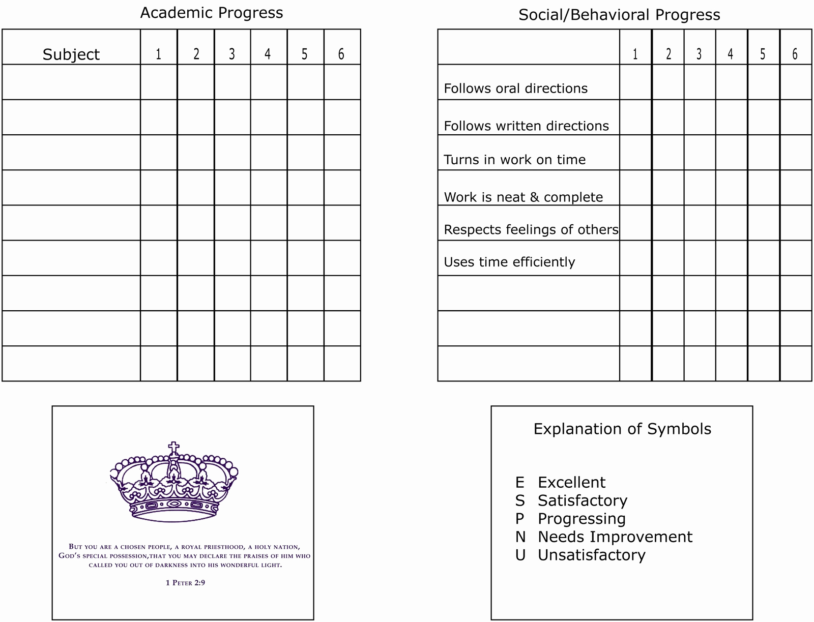 Printable Report Card Template Best Of Printable Report Card Template