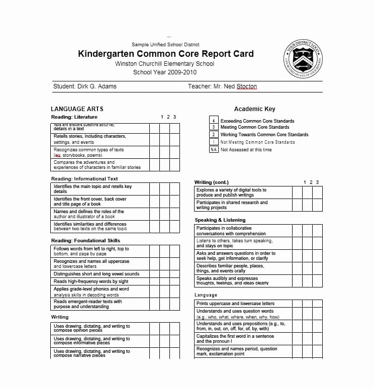 Printable Report Card Template Lovely 30 Real & Fake Report Card Templates [homeschool High