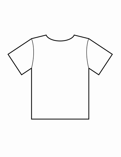 Printable T Shirt Templates Awesome Blank T Shirt Templates