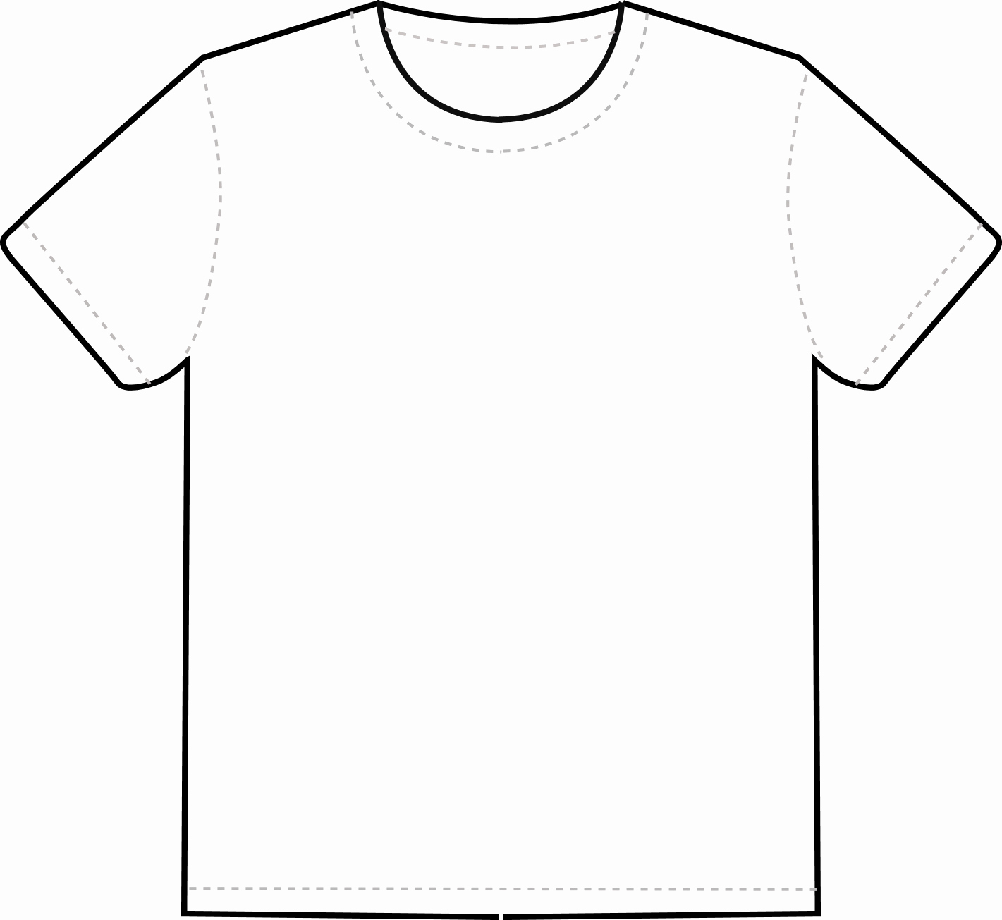 Printable T Shirt Templates Beautiful Blank Tshirt Template
