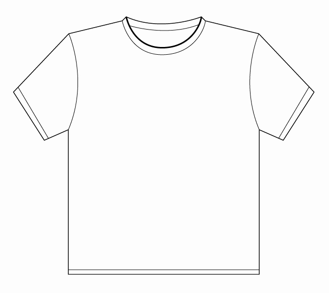 Printable T Shirt Templates Best Of T Shirt Outline Printable Clipart Best